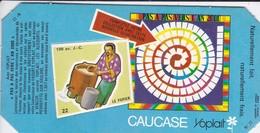 PUBLICITE-YOPLAIT--' Caucase '-pas A Pas Vers L'an 2000--( 1 élément De Puzzle Cartonné)-100 Av. J.C. -le Papier-2 Scans - Reclame