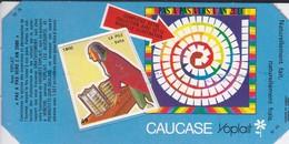 PUBLICITE-YOPLAIT--' Caucase '-pas A Pas Vers L'an 2000--( 1 élément De Puzzle Cartonné)-1800  La Pile--volta - Reclame