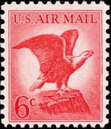 1963 USA Air Mail Stamp Bald Eagle Sc#c67 Post Bird - Post