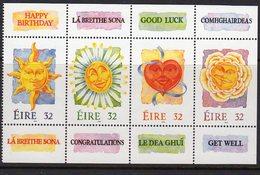 Ireland 1994 Greetings Booklet Stamps Pane, MNH, SG 896/9 - 1949-... Republic Of Ireland