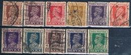 India 1939 / 42  -  Michel  102 / 112  ( Usados ) - 1947-49 Dominio Británico
