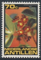 Nederlandse Antillen 1981 Mi 458 SG 767 ** Jatropha Gossypifolia : Flaira / Cotton-leaf Physicnut / Purgiernuß - Medical - Andere