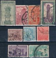 India 1947 / 49  -  Michel  183 / 198 + 192 + 194 + 195 + 199 + 200 + 202 + 212  ( Usados ) - 1947-49 Dominio Británico