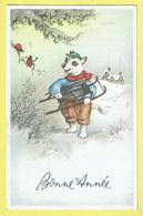 * Fantaisie - Fantasy - Fantasie * (Colorprint 54431) Bonne Année, New Year, Hond Chien Dog, Sledge, Traineau, Slede - Chiens