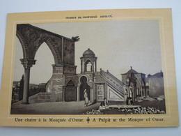 Une Chaire à La Mosquée D'Omar - Palestine