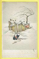 * Fantaisie - Fantasy - Fantasie * (Colorprint Elite 1157) Bonne Année, New Year, Hond Chien Dog, Snow, Neige, Rare - Chiens