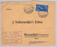 Brief In Die Schweiz (br6209) - 1900-44 Vittorio Emanuele III
