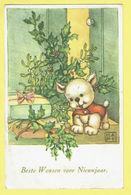 * Fantaisie - Fantasy - Fantasie * (JC) Bonne Année, New Year, Hond Chien Dog, Cadeau, Hulst, Old - Chiens
