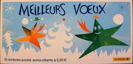 FR 2004 - Meilleurs Voeux - Bande Carnet Autoadhésif N° BC44 Y & T - 10 Timbres à 0,50€ - NEUFS - France