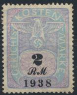 Deutsches Reich Gerichtskostenmarke 2 RM 1938 - Germany