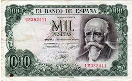 Billet De 1000 Pesetas - Espagne En T B - Le 17 Septembre 1971 - - [ 3] 1936-1975: Regime Van Franco