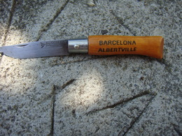 Couteaux Opinel N04 Ref 200 Barcelona Albertville - Pop Art