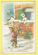 * Fantaisie - Fantasy - Fantasie * Bonne Année, New Year, Chien Dog Hond, Fleurs, Roses, Amour Love, Couple - Chiens
