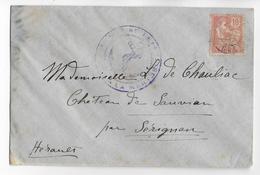 CRETE - 1912 - MOUCHON Sur LETTRE De LA CANEE Avec OBLITERATION NAVALE => SERIGNAN - Unclassified