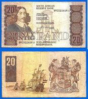 Afrique Du Sud 20 Rand 1990 1993 Sign 7 Stals Bateau Boat South Africa Animal Que Prix + Port - Zuid-Afrika