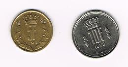 //  LUXEMBURG  5 En 10 FRANCS 1988/1978 - Luxembourg