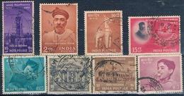 India 1956 / 57  -  Michel  258 + 275 / 81  ( Usados ) - 1950-59 República