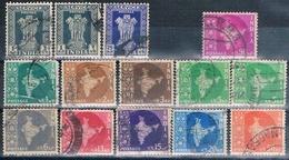 India 1957 / 58 -  Michel  131 + 259 / 63 + 265 / 66 + 268 / 70 + 272 + 383  ( Usados ) - 1950-59 República