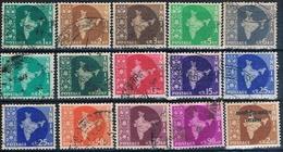 India 1957 / 60 -  Michel  276 / 99  ( Usados ) - 1950-59 República