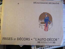 """FRISES ET DECORS """"L'AUTO DECOR"""" - DECALCOMANIE DECORATIVE - L'ONCLE SAM - 23 PLANCHES - Home Decoration"""
