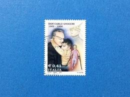 2002 ITALIA FRANCOBOLLO USATO STAMP USED - DON CARLO GNOCCHI - - 6. 1946-.. Repubblica