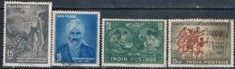 India 1960 -  Michel  313 + 315 + 317 + 318  ( Usados ) - India