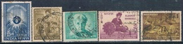 India 1963 -  Michel  351 + 352 + 357 + 363 + 364  ( Usados ) - India