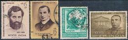 India 1964 -  Michel  366 + 372 + 374 + 380  ( Usados ) - India