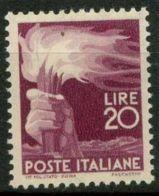 République Italie 1945 Sass. 561 Neuf ** 40% Démocratique - 1946-.. République