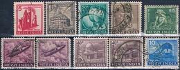 India 1965 / 68 -  Michel  392 / 95 + 435 + 452  ( Usados ) - India