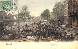 Dinant - La Foire (top Animation, Colorisée, 1913, Nels, Timbre Taxe) - Dinant
