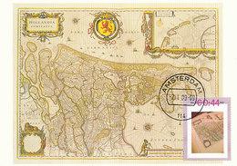 D37190 CARTE MAXIMUM CARD RR 2009 NETHERLANDS - OLD MAP OF THE NETHERLANDS BY J. BLAEU CP ORIGINAL - Francobolli Personalizzati