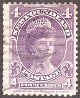 NEWFOUNDLAND 1901 4 Cent VioletSG89Used - Used Stamps