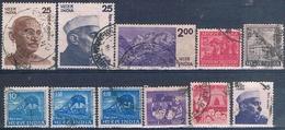 India 1971 / 80 -  Michel  639 + 677 + 396 + 717 + 718 + 828 + 917 + 927  ( Usados ) - India