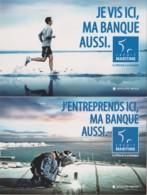 CREDIT MARITIME - Je Vis Ici Ma Banque Aussi - ECONOMIE, MER, SPORT, SOUDURE - 2 CPM TBon Etat (voir Scan) - Banks
