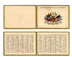 """Calendrier 1919 """"Les Etendards De La Victoire"""" - Calendars"""