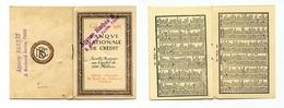 """Calendrier 1921 """"Banque Nationale De Crédit"""" - Calendars"""