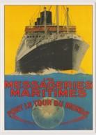 MESSAGERIES MARITIMES - Font Le Tour Du Monde - TOURISME, MER, SANDY HOOK - CPM TBon Etat (voir Scan) - Paquebots