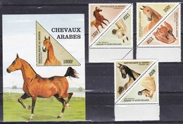 Benin, 1997 - Arabian Horse - Nr.1053A/1054 MNH** - Benin – Dahomey (1960-...)