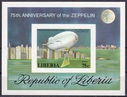 Liberia, 1978 - 75c Zeppelin, Foglietto - Nr.C219 MNH** - Liberia