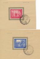 Gemeinschaftsausgaben 965/66 Auf Unterlage Sonderstempel Messe Leipzig 1947 - Gemeinschaftsausgaben