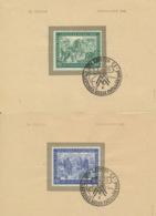 Gemeinschaftsausgaben 967/68 Auf Unterlage Sonderstempel Messe Leipzig 1948 - Gemeinschaftsausgaben