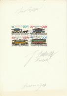DDR 3015/18 Auf Karton Mir Originalunterschrift Des Entwerfers - Storia Postale