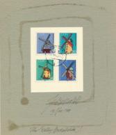 DDR 2657/60 Auf Passepartout-Karton Mir Originalunterschrift Des Entwerfers - Storia Postale