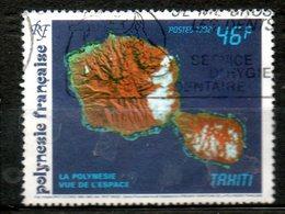 POLYNESIE Vue Des Iles 1992 N°405 - Französisch-Polynesien