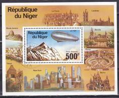 Niger, 1976 - 500fr Zeppelin, Foglietto - Nr.C278 MNH** - Niger (1960-...)