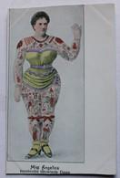Rare CPA Femme Tatouée Tatouage Tätowierte Miss Angelica Schwarz Kunstvollst Tätowierte Dame Edit Paul Schaerf Gera-R - Autres