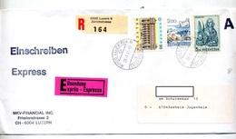Lettre Recommandee Luzerne Sur Europa Marc - Marcophilie
