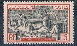 Guadeloupe 102 MLH Sugar Mill 1928 (G0363)+ - Guadeloupe (1884-1947)