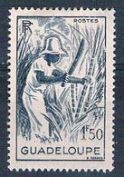 Guadeloupe 194 MLH Cutting Sugar Cane 1947 CV 1.50 (G0337) - Non Classés